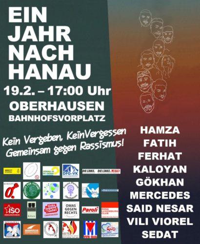 Aufruf Oberhausen Hanau 19.2.21