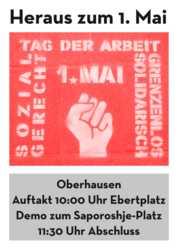 Aufruf 1. Mai 2021 Oberhausen