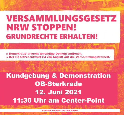 """Nein zum """"neuen"""" Versammlungsgesetz NRW"""
